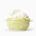 Vietri Bellezza Spring Bunny Soup Tureen with Ladle