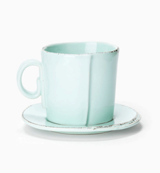 Vietri Lastra Aqua Espresso Cup & Saucer