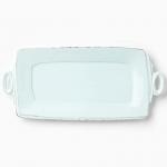 Vietri Lastra Aqua Handled Rectangular Platter