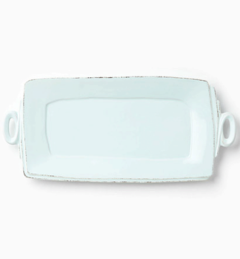 Vietri Lastra Aqua Handled Rectangular Platter  1