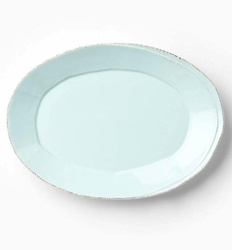 Vietri Lastra Aqua Oval Tray
