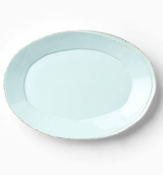 Vietri Lastra Aqua Small Oval Platter