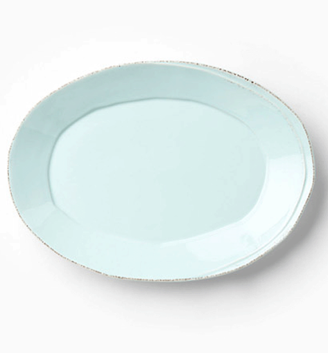 Vietri Lastra Aqua Small Oval Platter  1