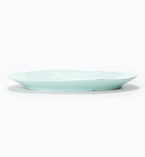Vietri Lastra Aqua Oval Platter  1