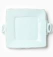 Vietri Lastra Aqua Handled Square Platter