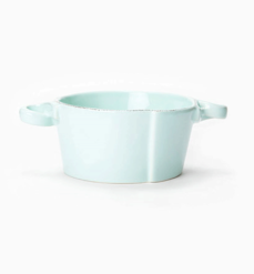 Vietri Lastra Aqua Small Handled Bowl