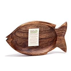 Acacia Hardwood Fish Dish