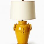 Vietri Amber Lamp with Round Handles