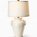Vietri White Lamp with  Round Handles