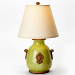 Vietri Pistachio Lamp with Raw Handles