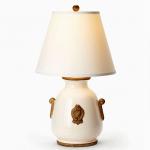 Vietri White Lamp with Raw Handles