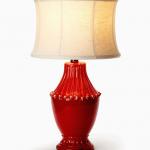 Vietri Red Pedestal Lamp