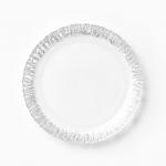 Vietri Ruffle Glass Platinum Salad Plate
