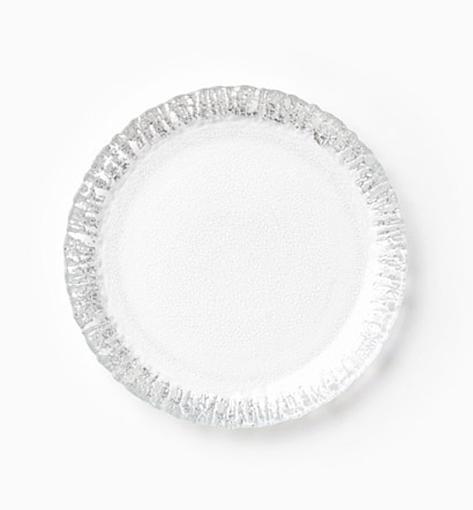 Vietri Ruffle Glass Platinum Salad Plate 1
