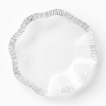 Vietri Ruffle Glass Platinum Platter