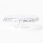 Vietri Ruffle Glass Platinum Cake Stand