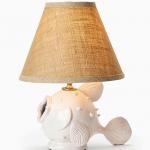 Vietri White Fish Lamp