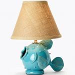 Vietri Turquoise Fish Lamp