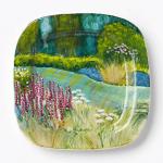 Vietri Square Flower Garden Wall Plate