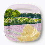 Vietri Square Purple Field Wall Plate