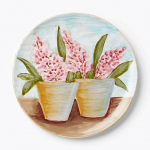 Vietri Round Double Flower Pots Wall Plate