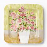 Vietri Square Single Flower Pot Wall Plate