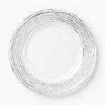 Vietri Ruffle Glass Platinum Stripe Service Plate/Charger