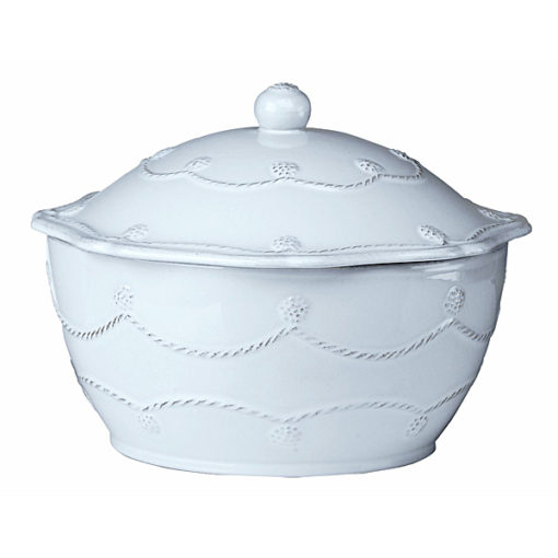 Juliska Berry and Thread Small Covered Casserole Whitewash