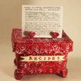 Handmade Clay Recipe Box