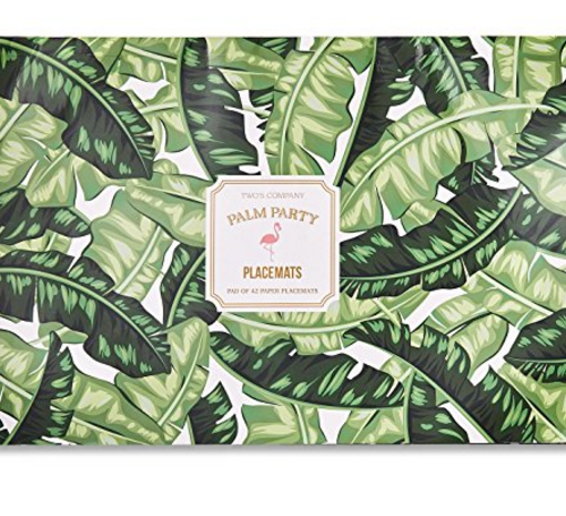 Twos Company 40 Sheet Palm Leaf Pattern Paper Placemat
